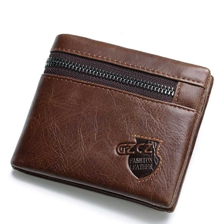 82b1e1959 US$31.35 - Vintage Genuine Leather 11 Card Slots Trifold Wallet ...