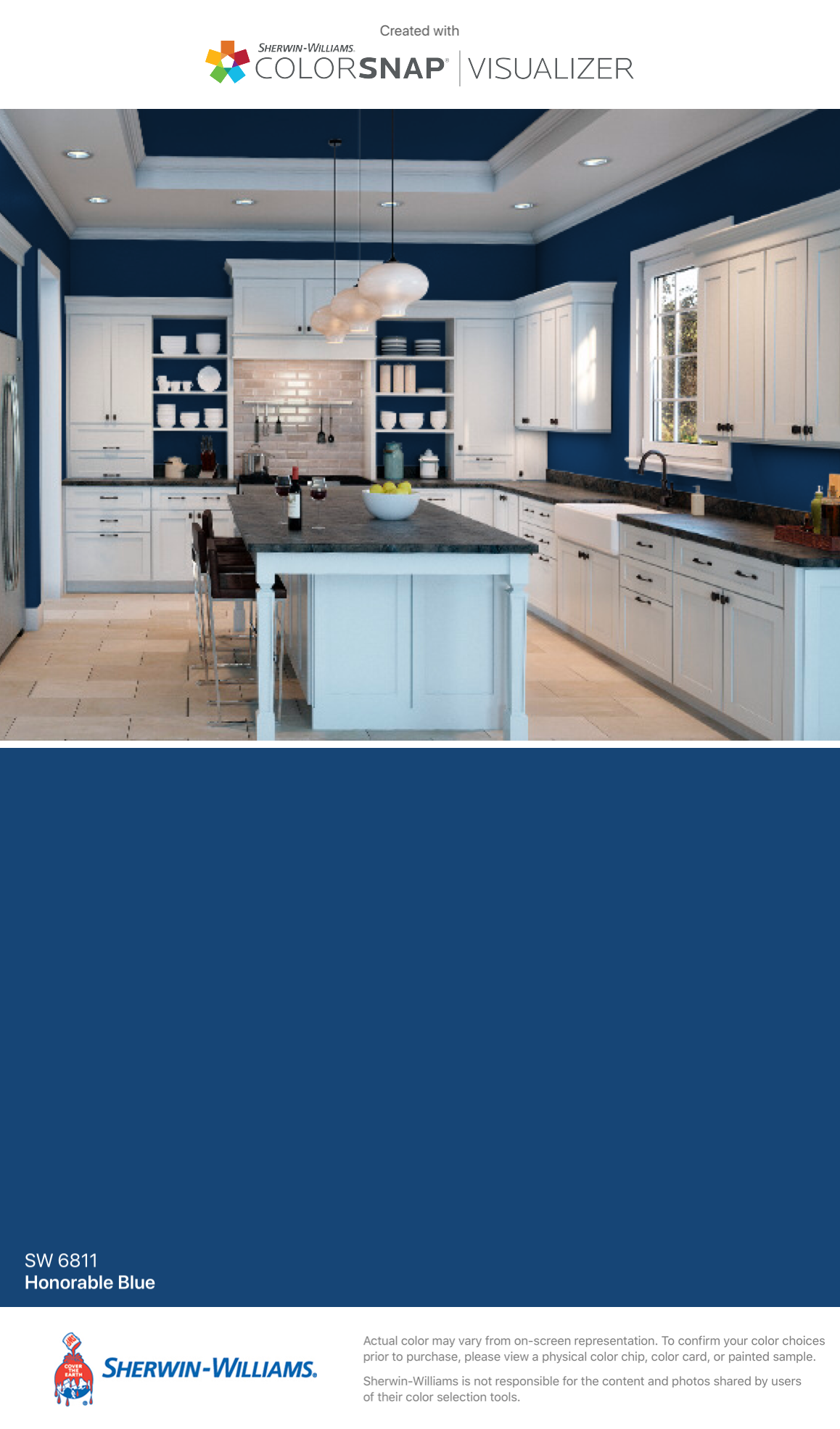 I Found This Color With Colorsnap Visualizer For Iphone By Sherwin Williams Honorable Blue Sw 6811 Sherwin Williams Silver Strand Paint Color App Home