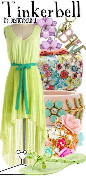 Tinkerbell by Disney Bound. Fashion Disney Outfit. spring