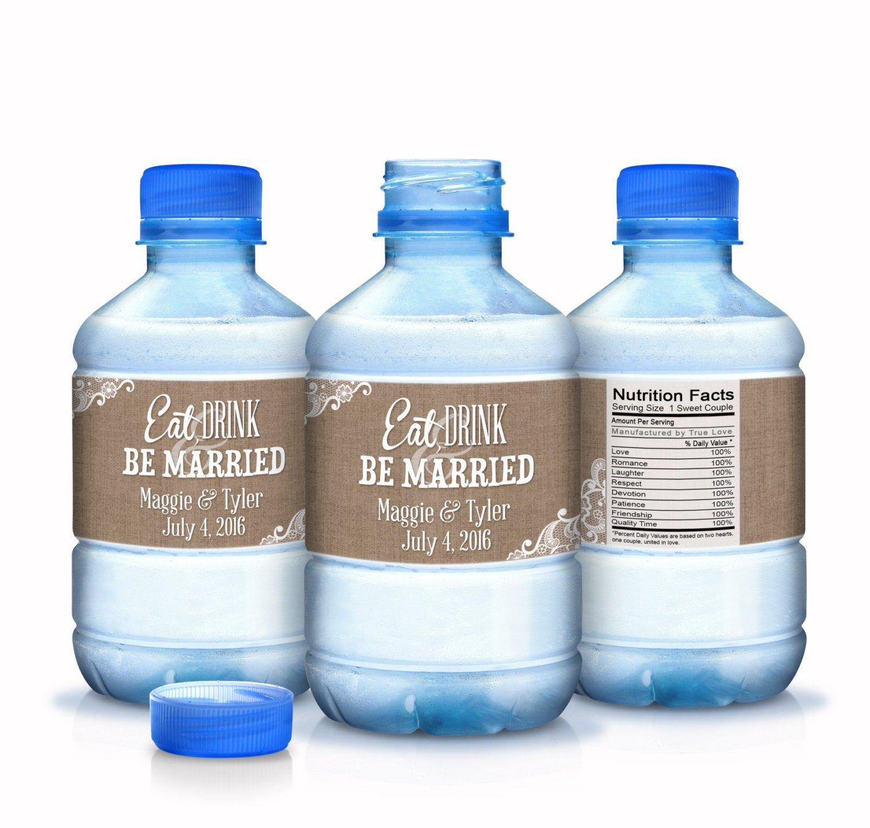 Wedding Water Bottle Labels - Wedding Bottled Water Labels ...