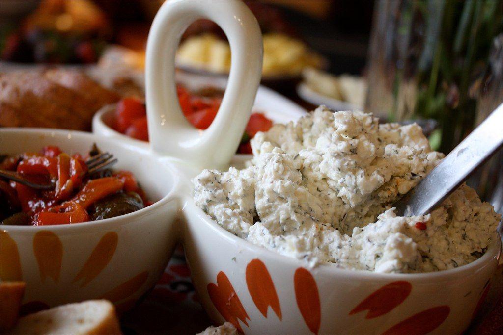 Garlic Feta Cheese Dip by Aggie's Kitchen