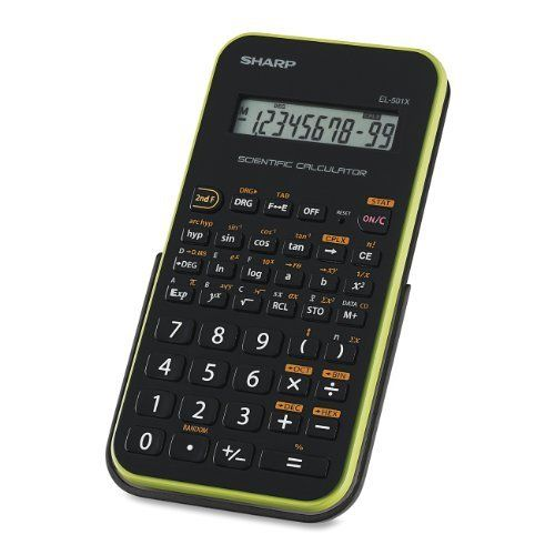 Sharp Electronics EL-501XBGR Engineering/Scientific Calculator by Sharp. $8.75. The Sharp EL-501XBGR 10-Digit Scientific Calculator has 131 Functions and features a new ergonomic design for comfortable calculating. This is great for mathematicians who use it often. This Sharp calculator also offers a one-line LCD display, one independent memory and an attached hard cover to protect it from dings.