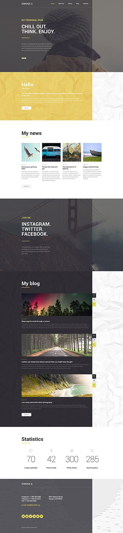Template 58775 - Simona S  Responsive WordPress  Theme