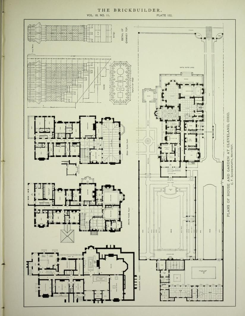 The Brickbuilder Jan Dec 1909 Architectural Floor Plans Classic Architecture How To Plan