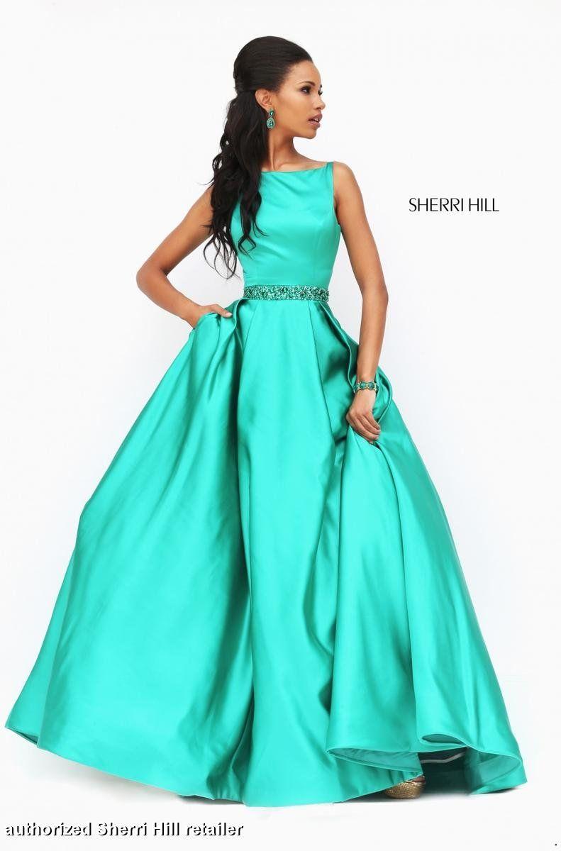 This stunning Sherri Hill 50502 ballgown dress features an A line ...
