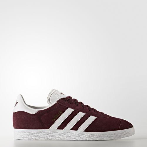 adidas - Men's Gazelle Shoes Maroon/Footwear White/Gold Metallic ...