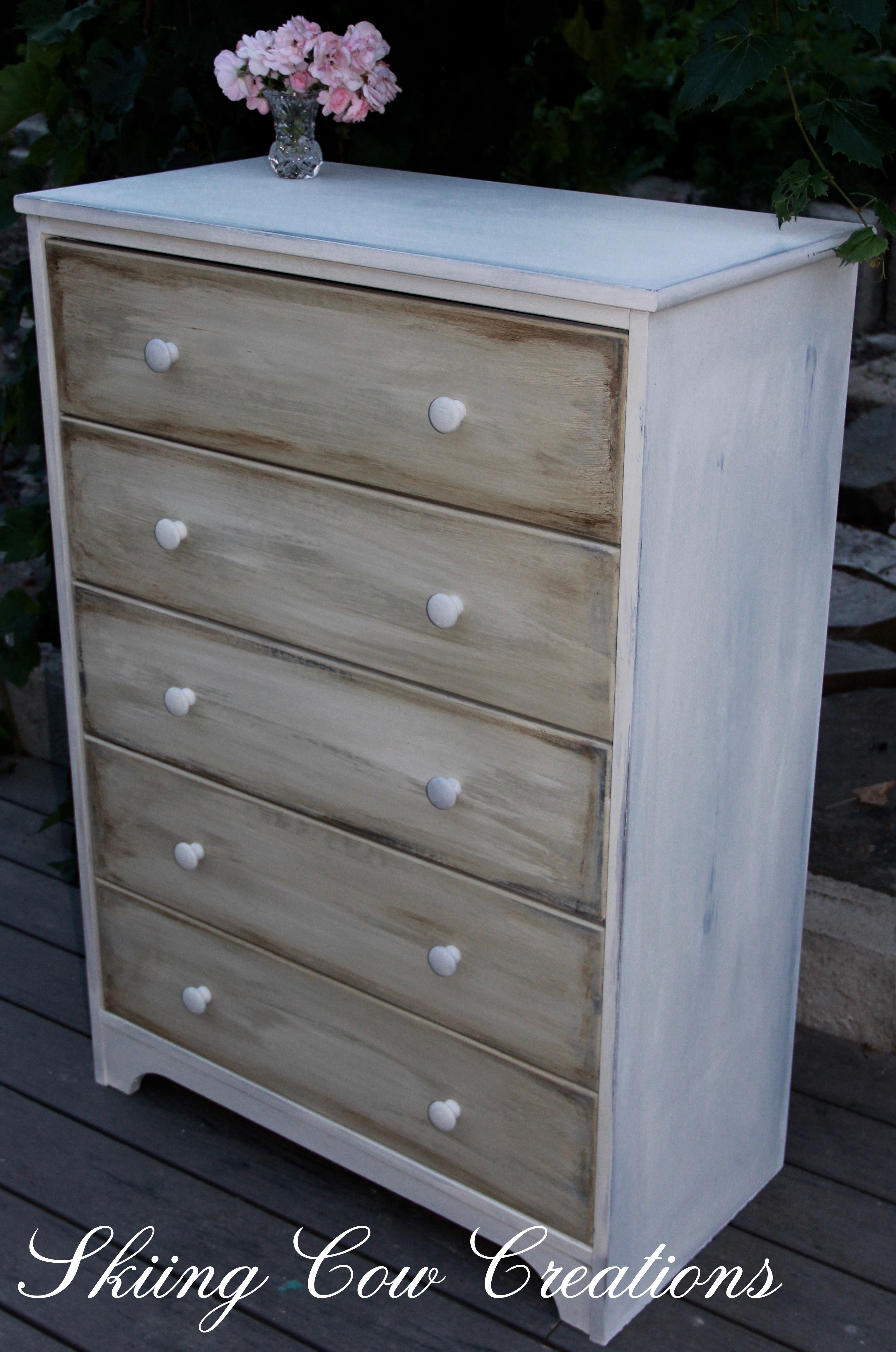Distressed Dresser In Annie Sloanu0027s Old White And French Linen. Check Out  My Etsy Store