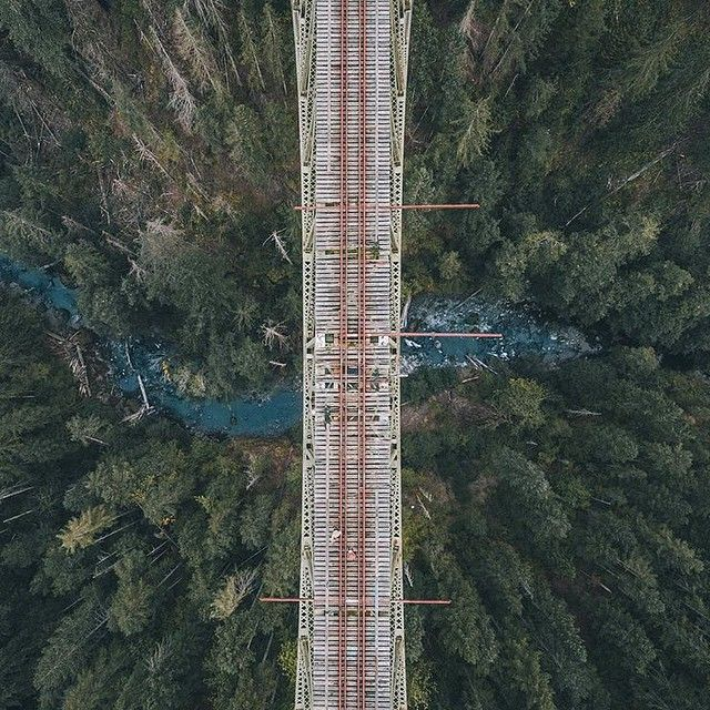 by socality: Where will your journey take you?  The Vance creek bridge from above.  Photo by @robstrok #socality