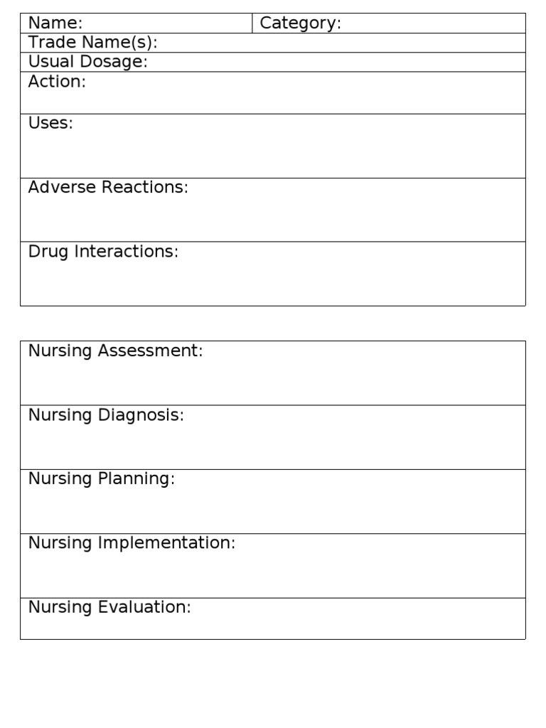 006 Nursing Drug Card Template Staggering Ideas Student Pertaining To Pharmacology Drug Card Template Best Template Ide Drug Cards Card Template Pharmacology