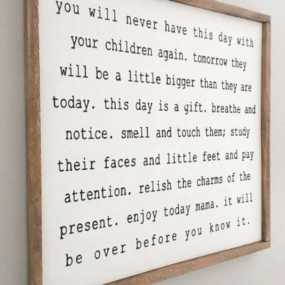 I need this hung in my kitchen where I can read it everyday!