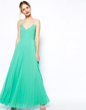 8a226731ff ASOS Cami Pleated Maxi Dress | K + B: Colony | Dresses, Fashion ...