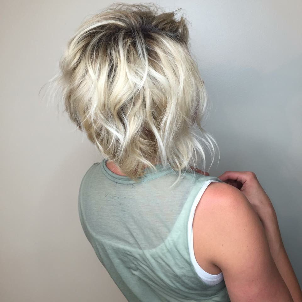 Short layered textured bob