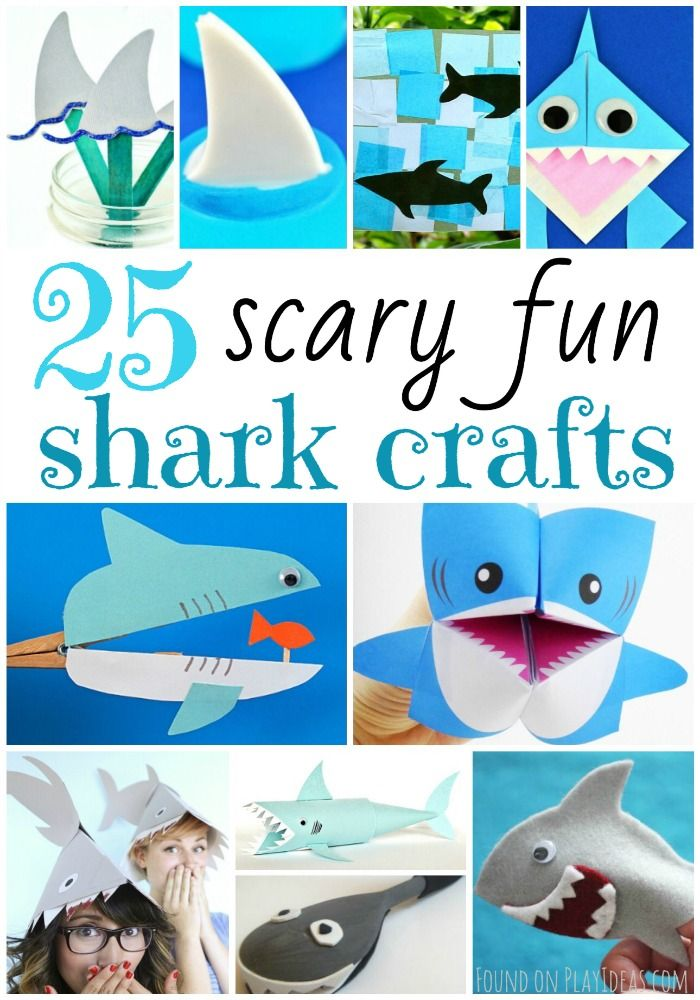 25 Scary Fun Shark Crafts For Kids Shark Craft Art Activities