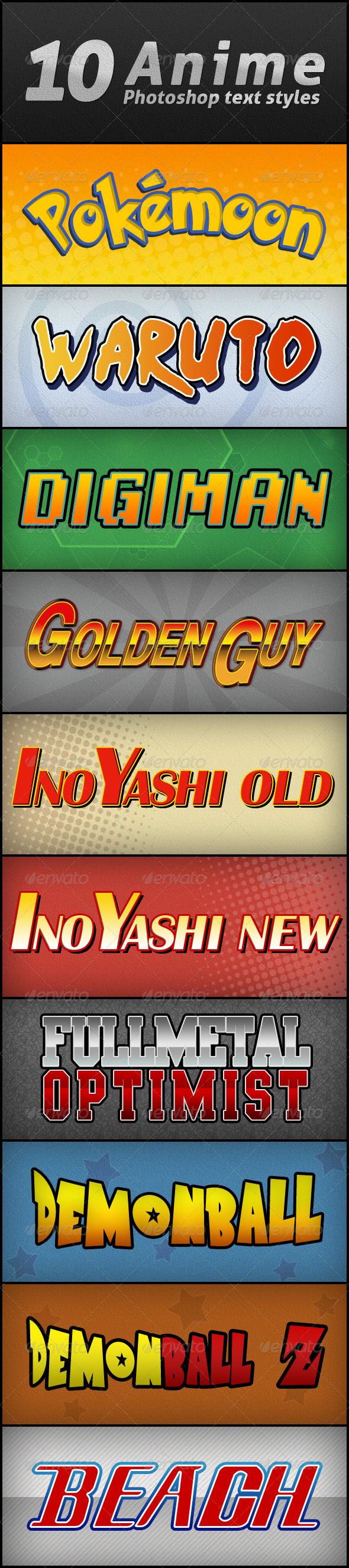 Text Styles / Anime text, Text style