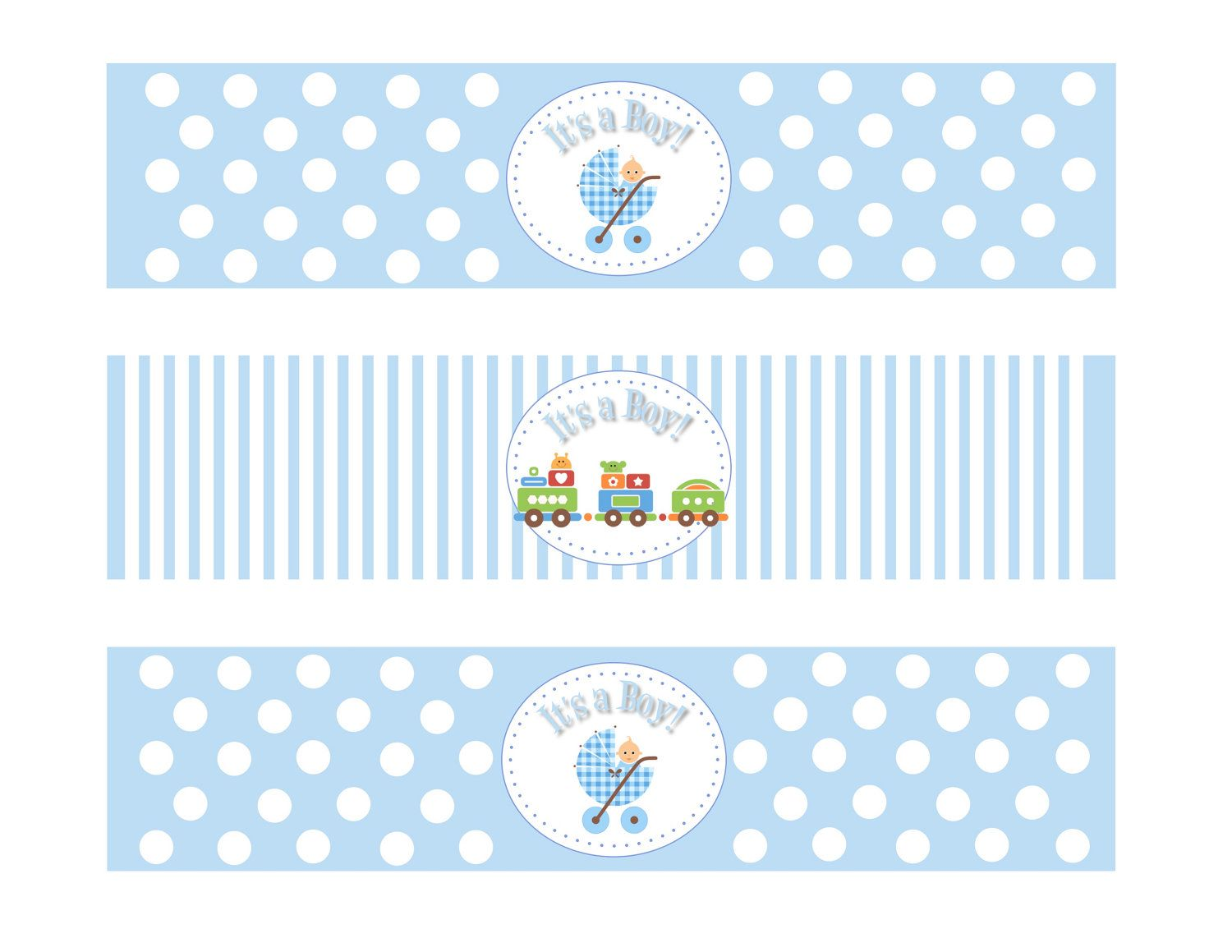 Marvelous ComPrintable Baby Shower Boy Theme Water Bottle By DesignsByDVB · Label  TemplatesTemplates FreeBaby ... Idea Free Baby Shower Label Templates
