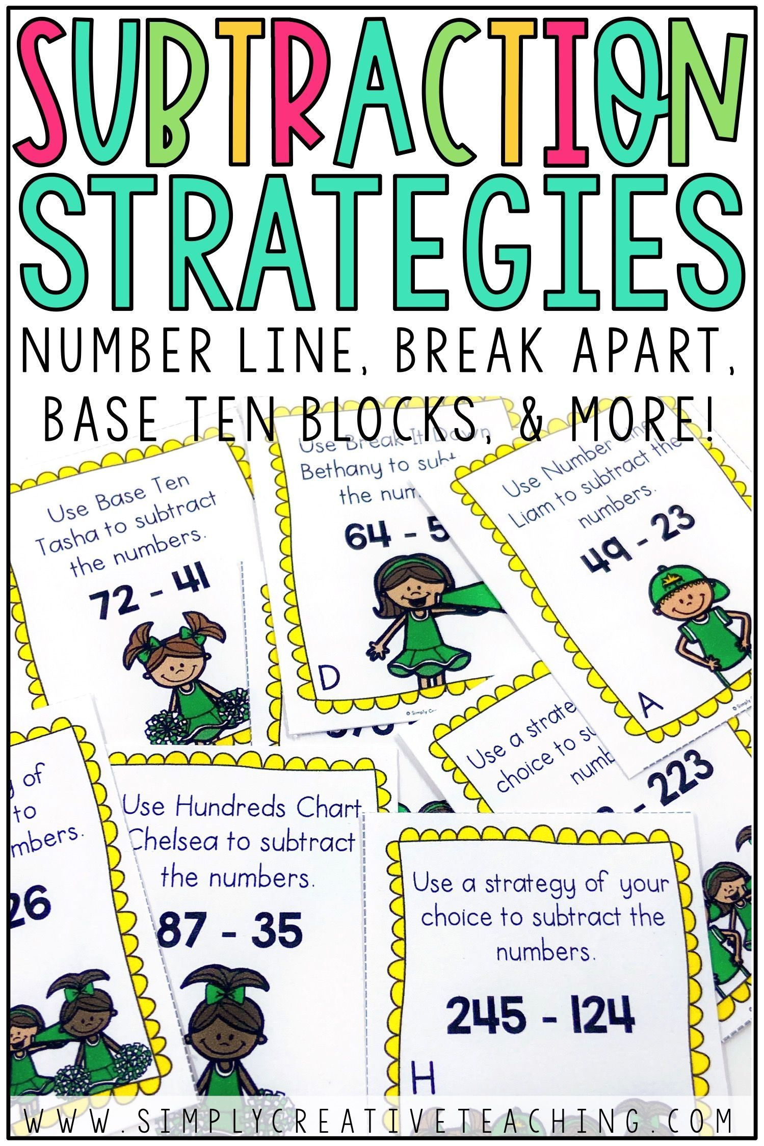 Two Digit Amp Three Digit Subtraction Strategies Centers And