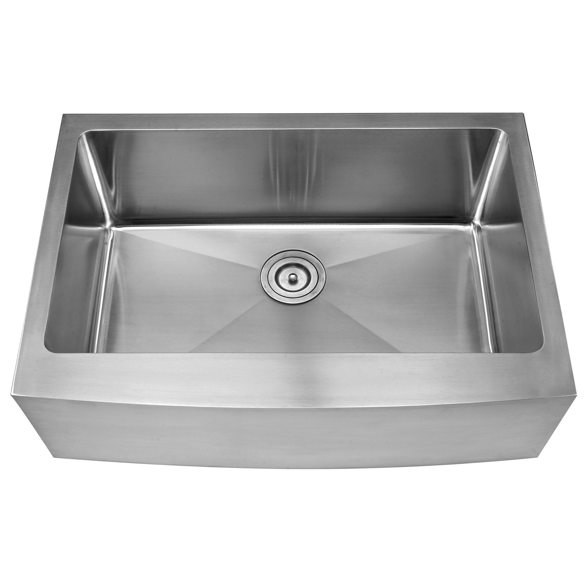 30 L X 21 W Farmhouse Kitchen Sink With Basket Strainer Sink