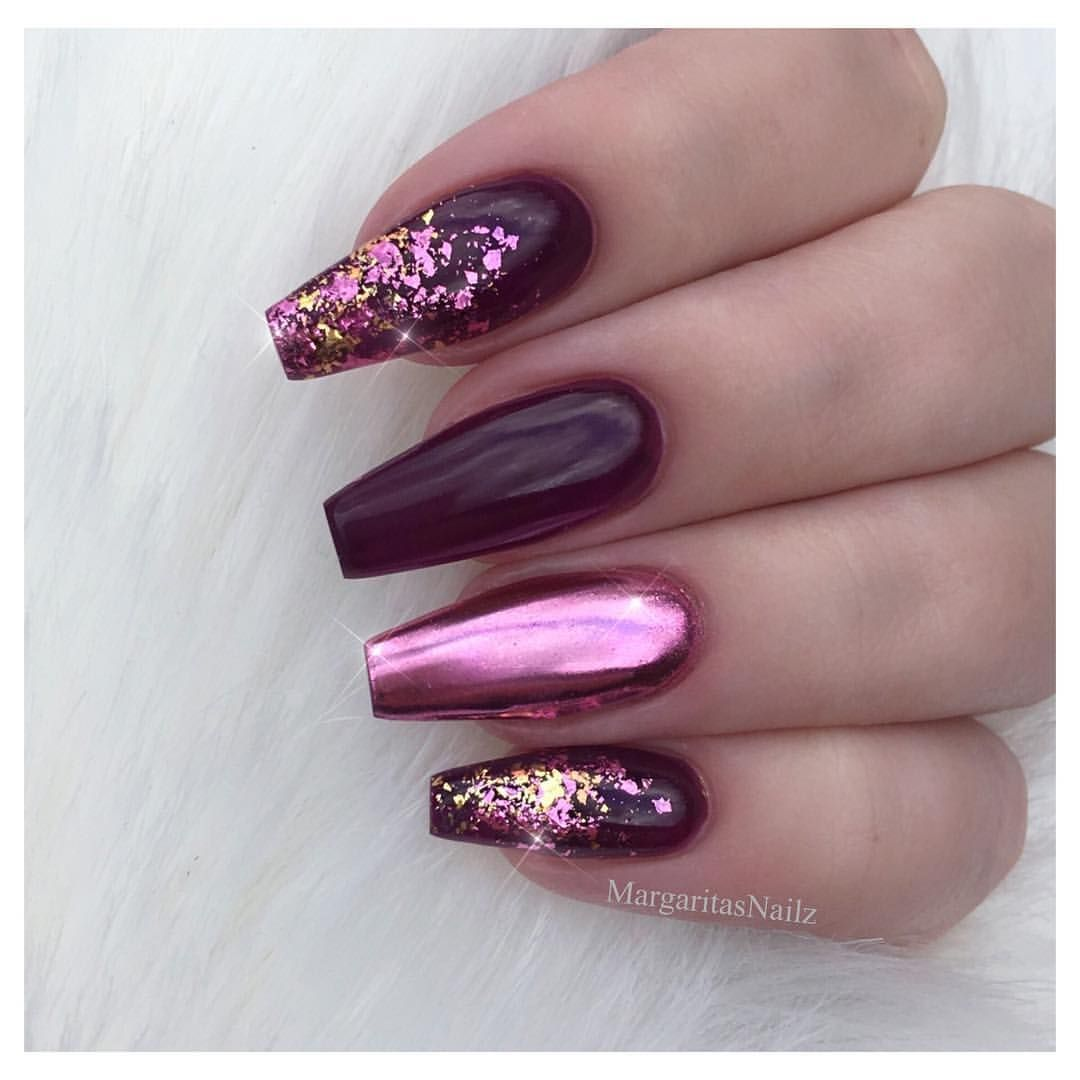 pink chrome. | nails | Pinterest | Chrome, Coffin nails and Color nails