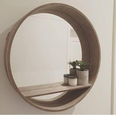 Round Mirror With Shelf Kmart Google Search Espejos Para Banos Espejos Muebles