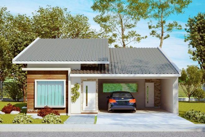 Planos de casa de 3 dormitorios y 145m2 de un solo piso for Fachadas de casas de un solo piso