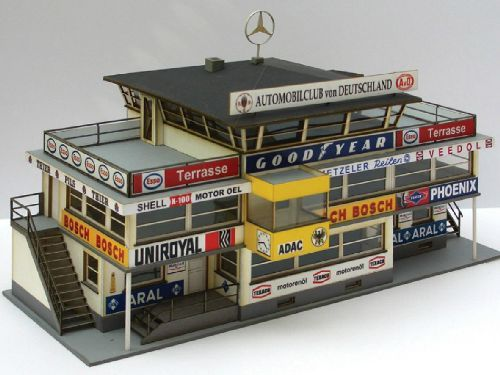 Nurburgring Nice Model (1:32) Of The Old Start U0026 Finish Building, Made Of  Cardboard