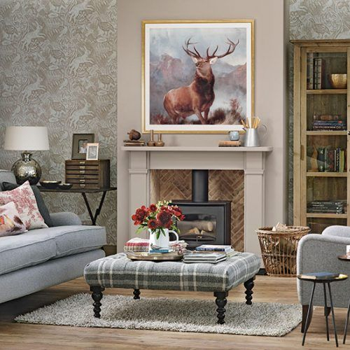 Woodland Theme Country Living Room