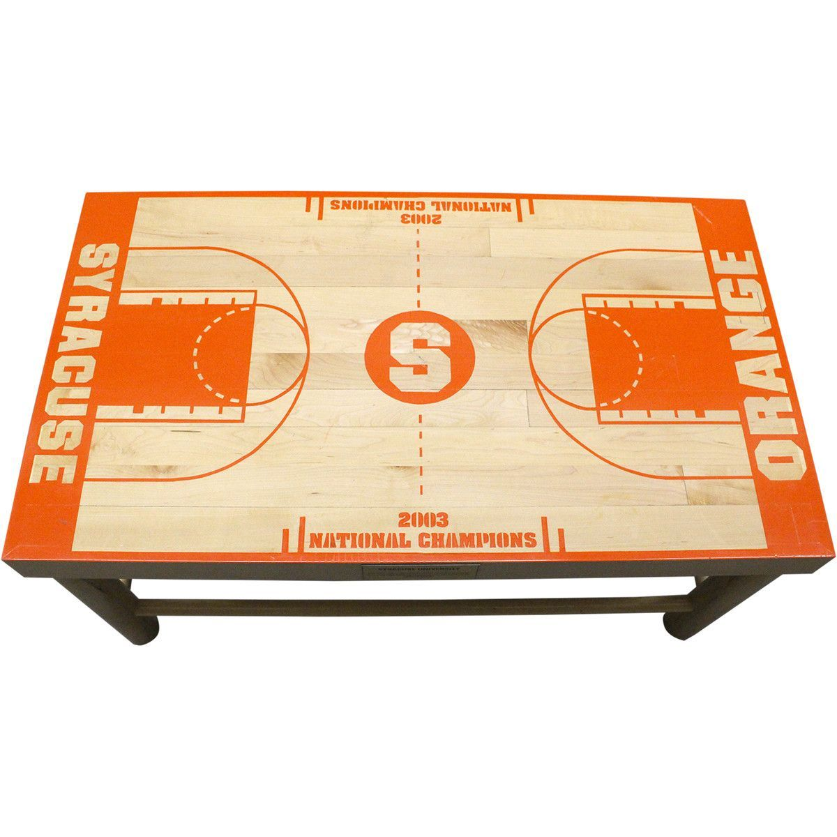 Syracuse University Basketball Court Coffee Table This