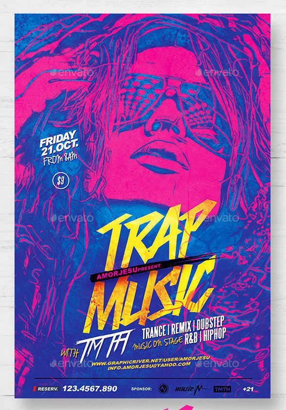 17+ Music Flyer Templates U2013 Free PSD, EPS, AI, InDesign, Word  Download Free Flyer Templates Word