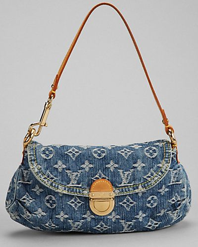 Louis Vuitton Monogram Denim Pleaty 499