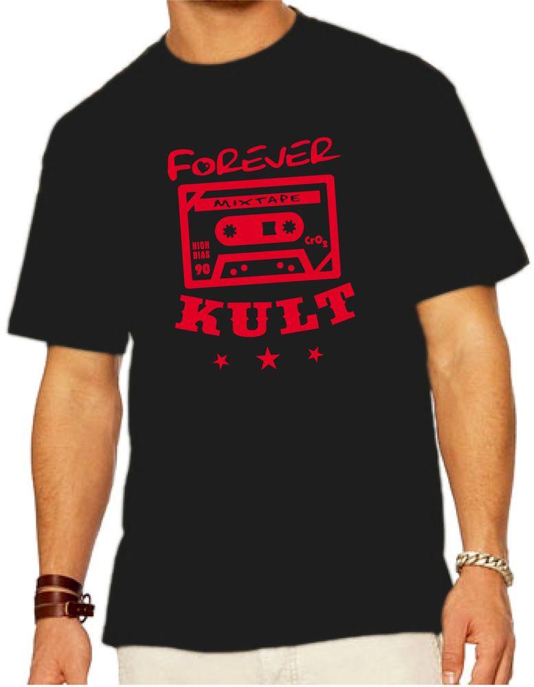 FOREVER KULT TAPE/KASSETTE BIO-ORGANIC T-SHIRT 100% ZERTIFIZIERTE BAUMWOLLE!
