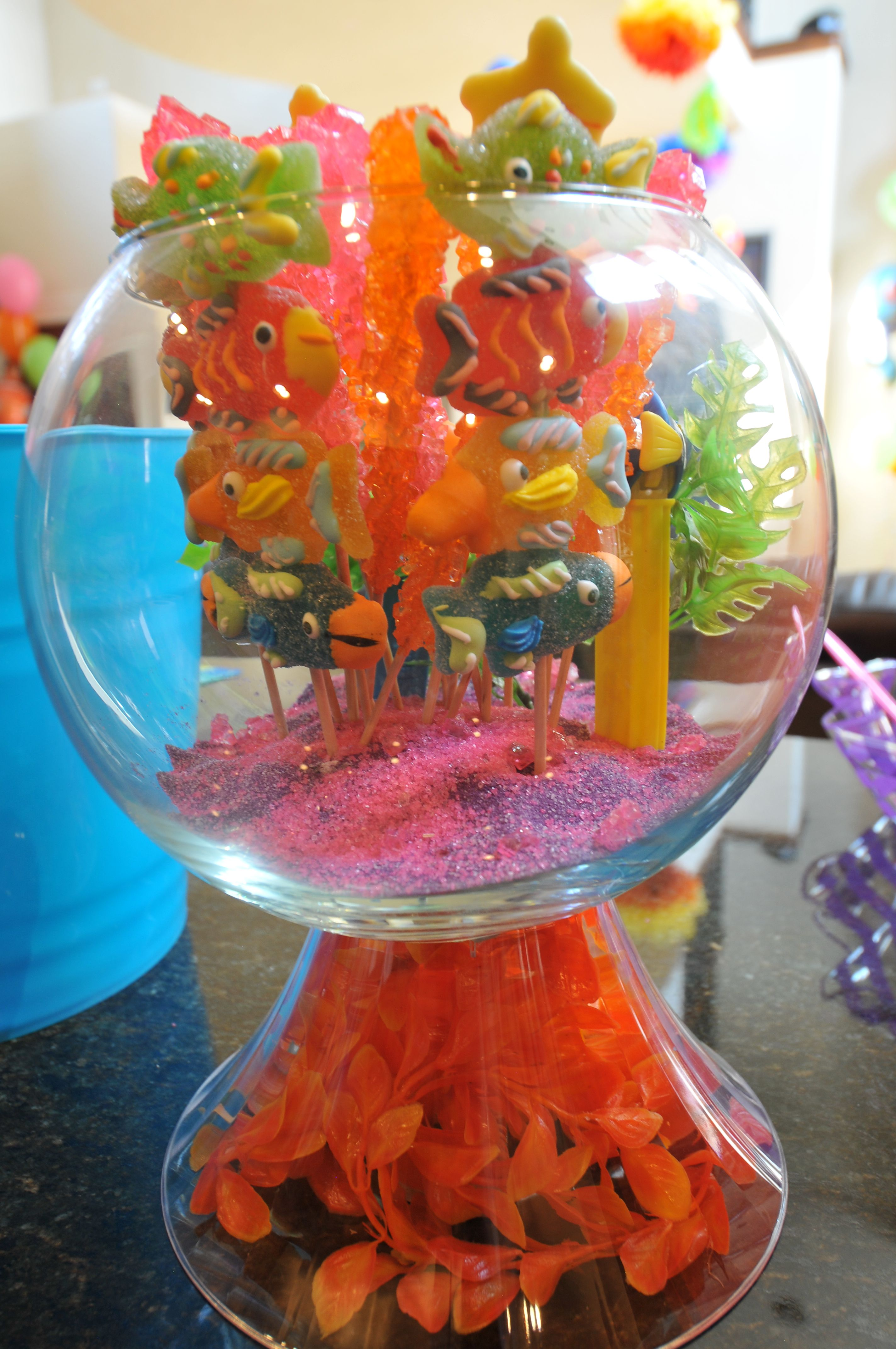 Finding Nemo Baby Shower Fish Bowl decoration | Disney Finding Nemo ...
