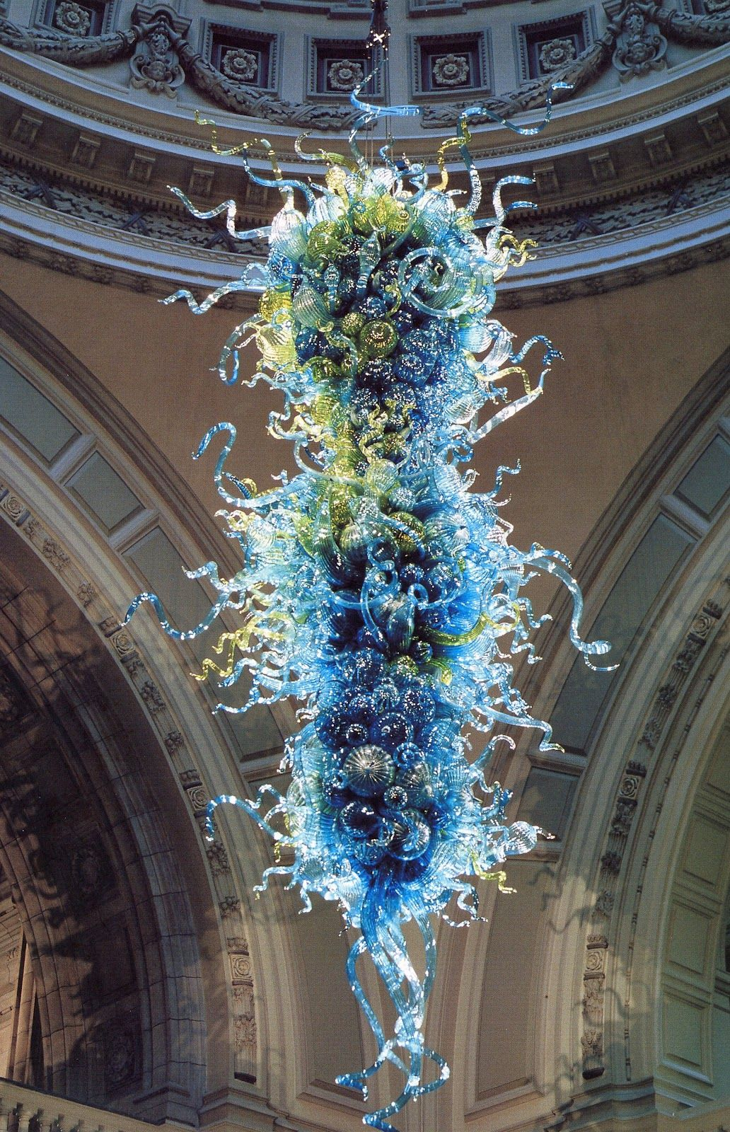 Massive dale chihuly blown glass chandelier which hangs in the massive dale chihuly blown glass chandelier which hangs in the entrance rotunda of victoria albert museum in london arubaitofo Choice Image