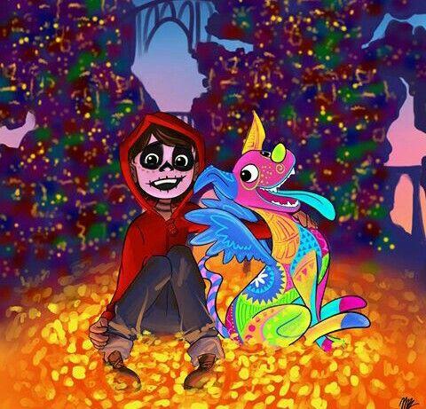 Miguel Y Dante De Coco Pixar Coco Pelicula Dibujos Y