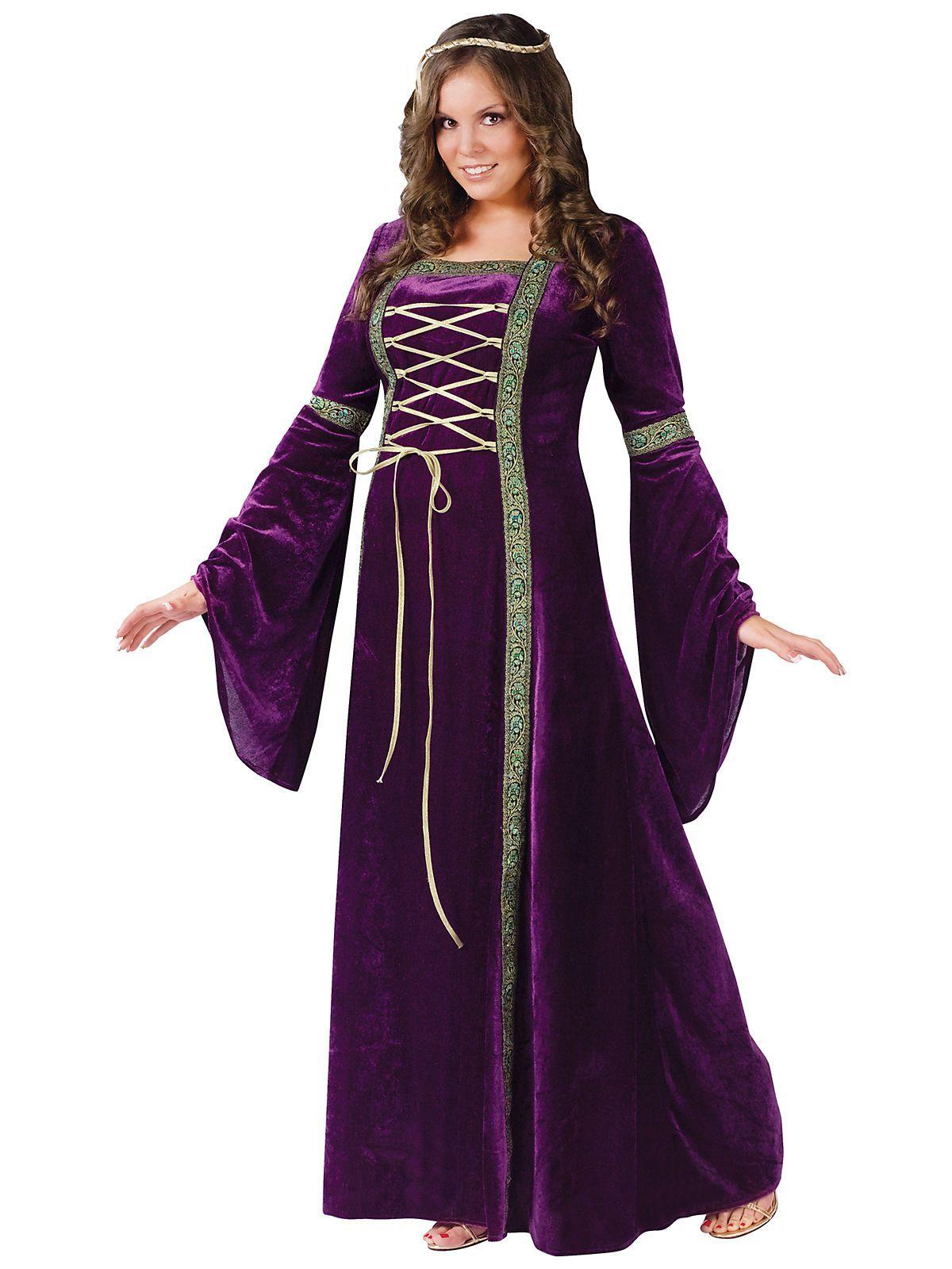Purple Renaissance Lady Plus Size Costume