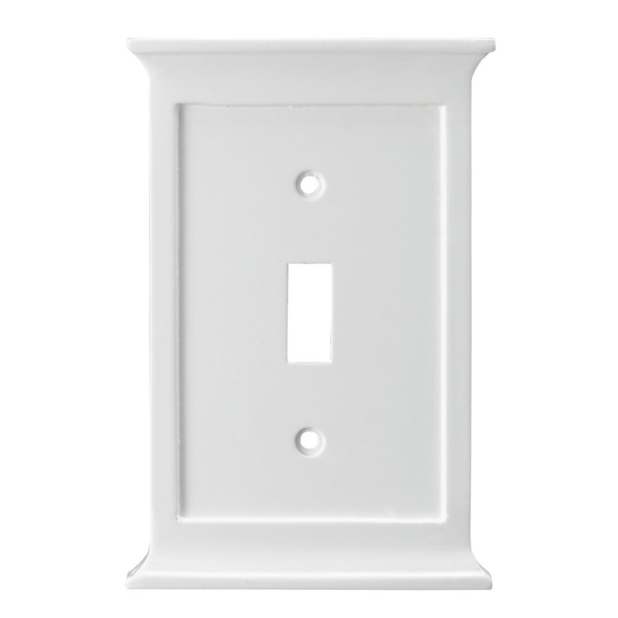Lowes Wall Plates Extraordinary Allen  Roth 1Gang White Toggle Wall Plate  Lowes  Toh Shopping Decorating Inspiration