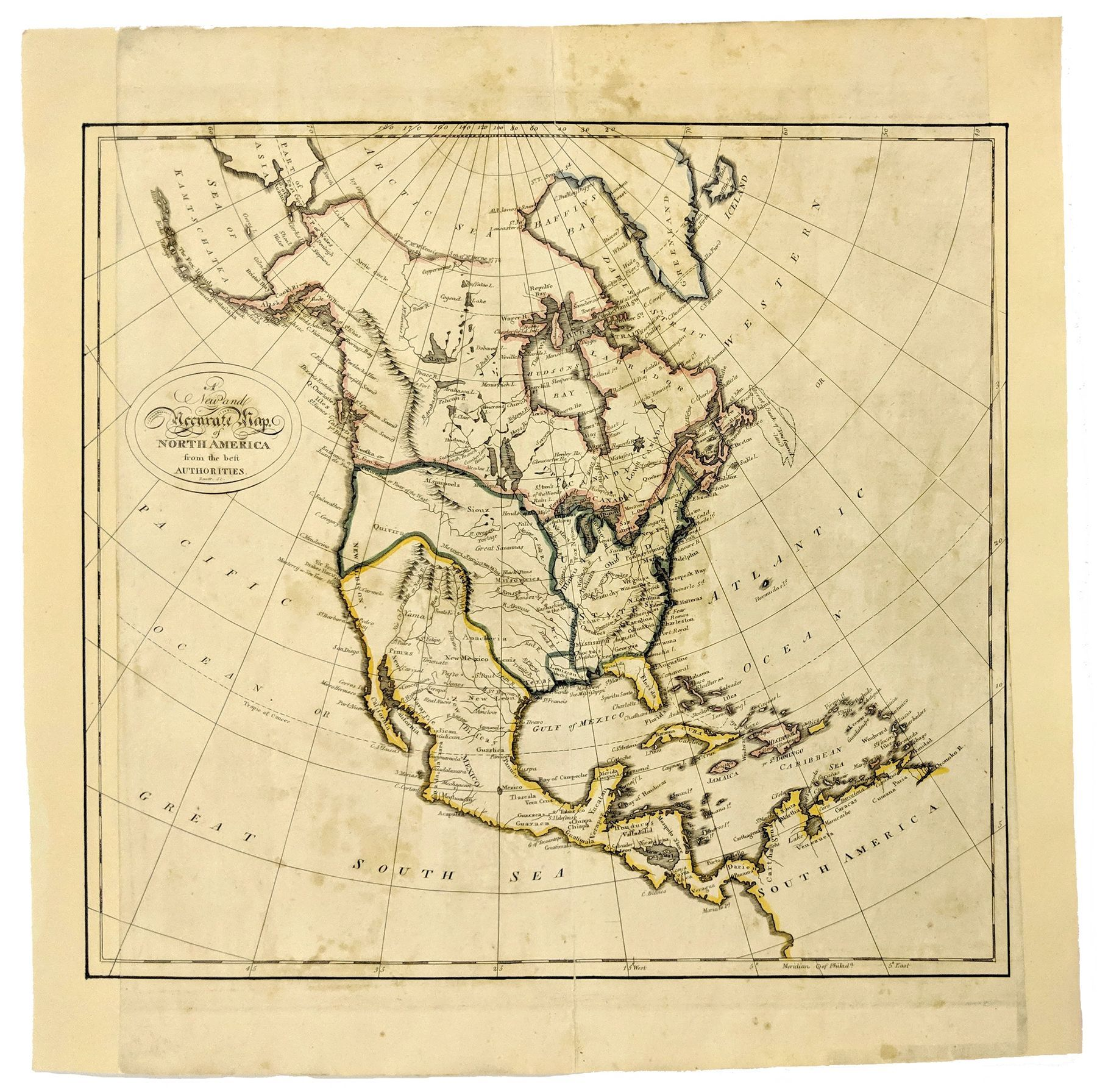 State Map Of North America.1780 A New And Accurate Map Of North America United States Maps