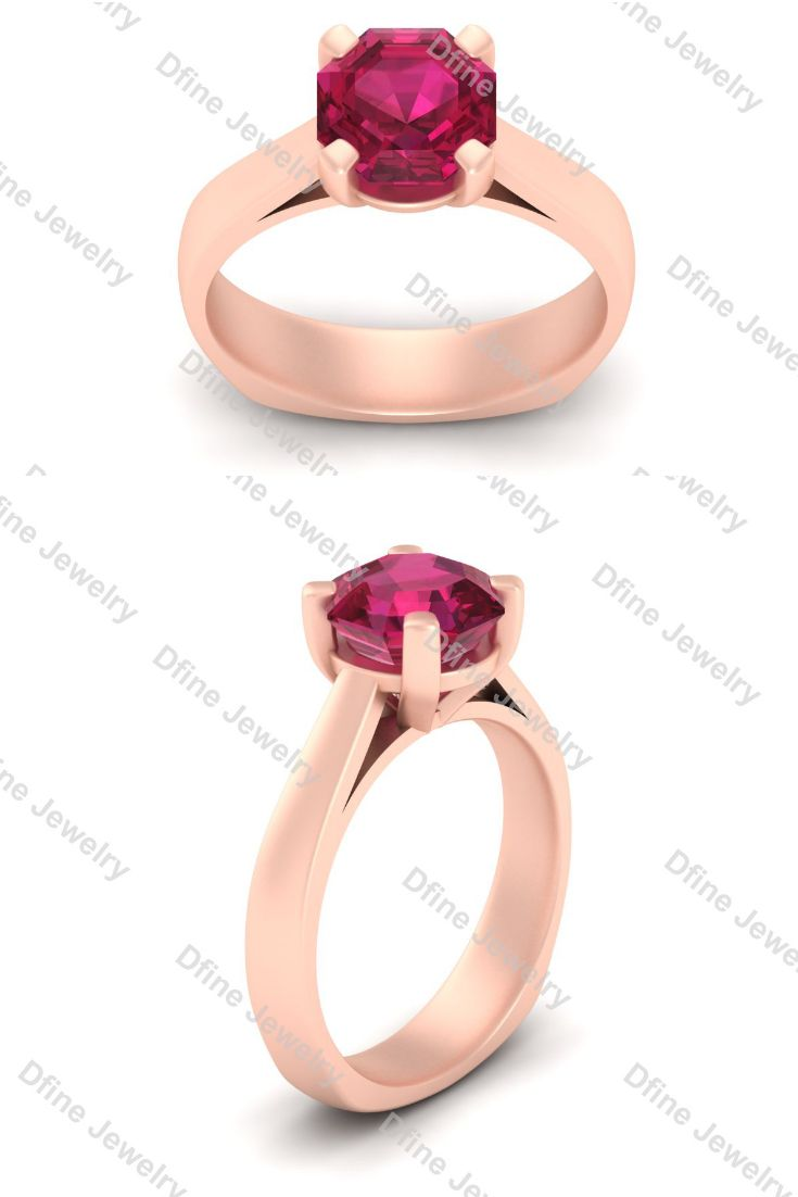 Classic pink ruby engagement ring womens jewelry pinterest