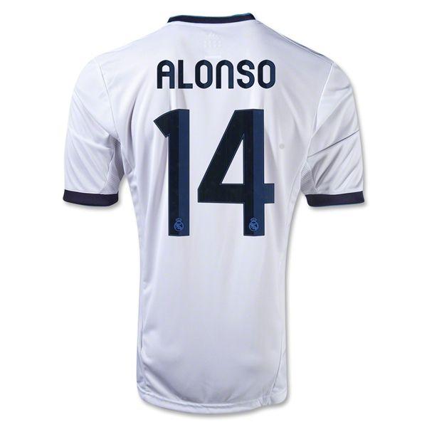 Real Madrid 12 13 Xabi Alonso Home Soccer Jersey I Really Want It Hala Madrid World Soccer Shop Soccer Jersey Jersey