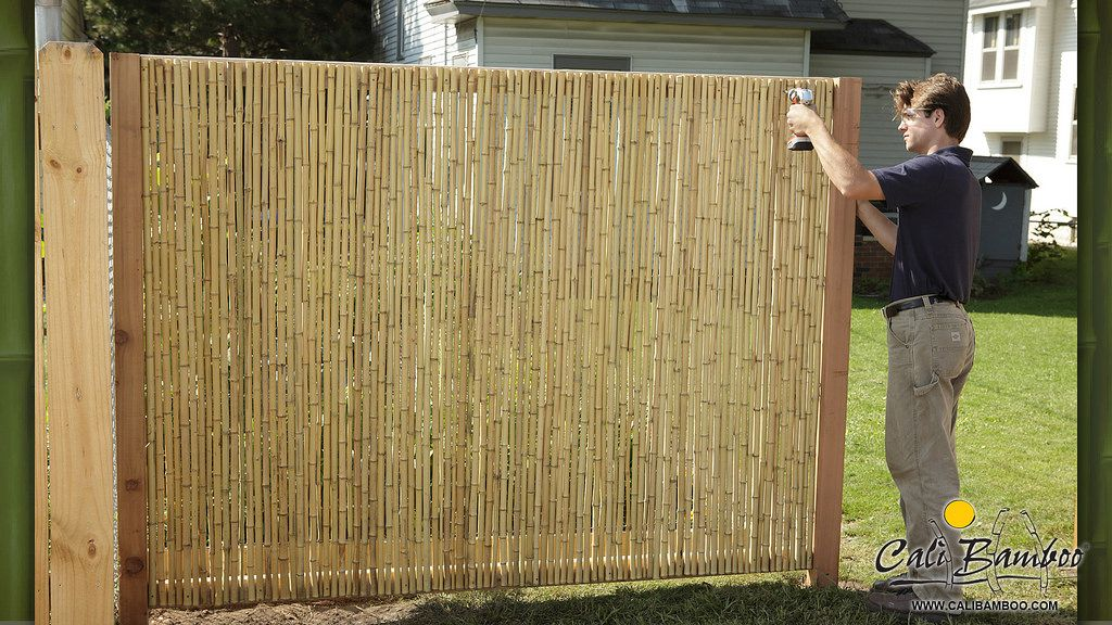6ft X 6ft Natural 1 Inch Diameter Cali Bamboo Bamboo Fence