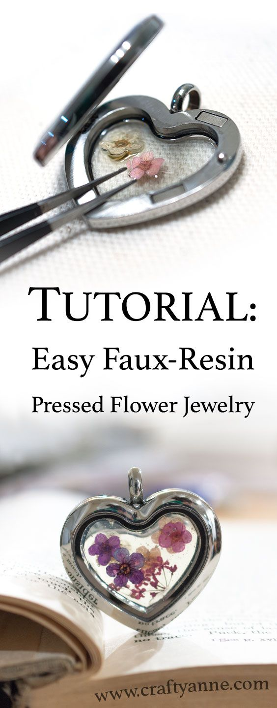 Create a beautiful pressed flower pendant with the look of