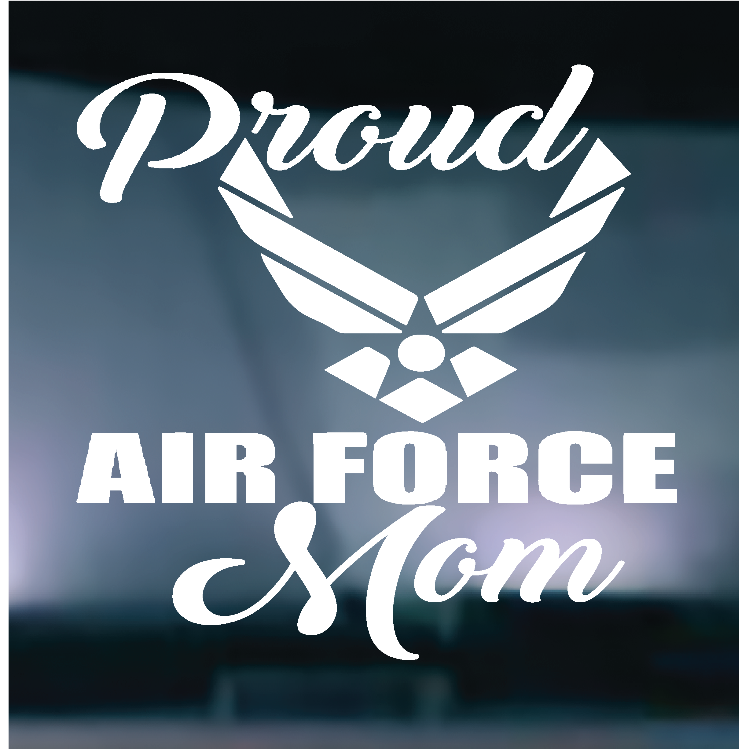 Proud Air Force Mom Vinyl Graphic Decal Air force mom
