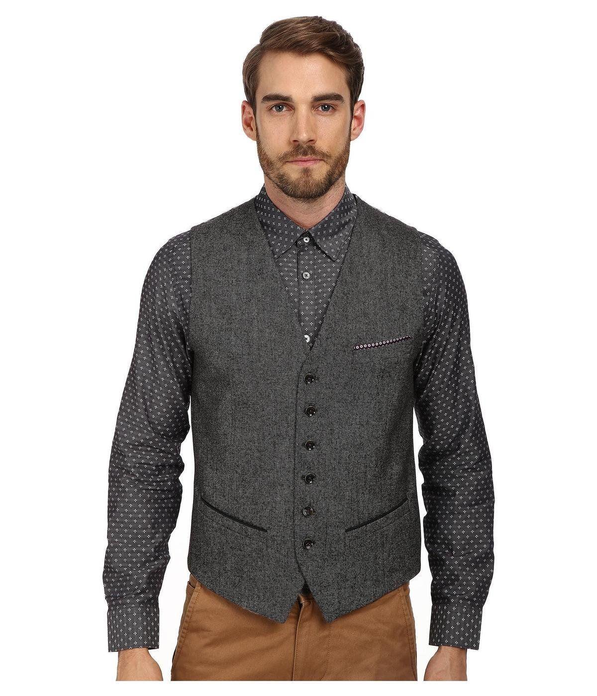 Jonwai Mini Design Waistcoat http://picvpic.com/men-coats-jackets ...