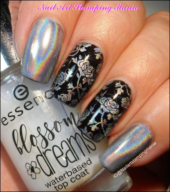 Nail Art Stamping Mania: How to Stamp with Holographic Pigment and ...