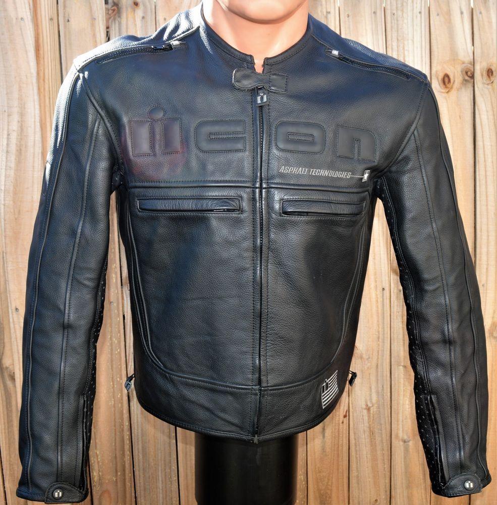 Icon Motor head black leather jacket Asphalt Technologies