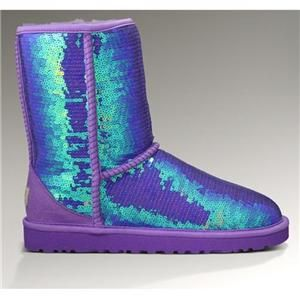 Puple Sequin Uggs;)   Boots, Ugg boots