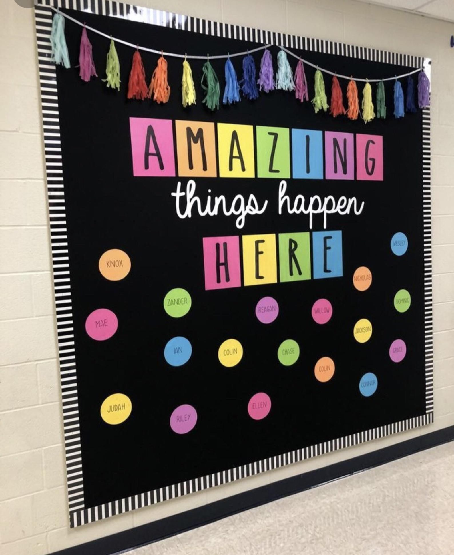 Teachers School Bulletin Board Cutouts DIY Kit Amazing Things Happen Here | Back to School Decoration | Bulletin Board Cutouts Decor