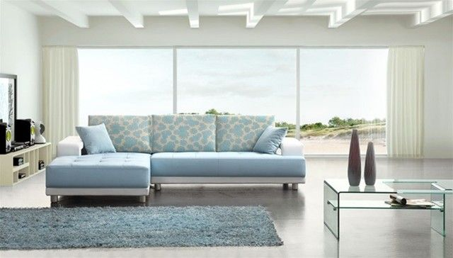 Marvelous Blue Sectional Sofa 7 Light Blue Leather Sectional Sofa