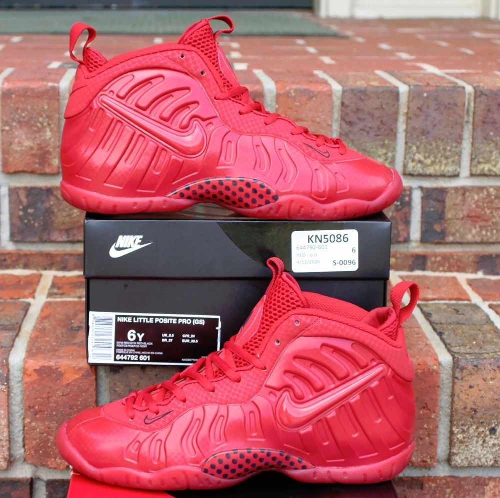 wholesale dealer faaa6 aa8fd Nike Little Posite Pro (GS) Gym Red GS Size 6Y SKU  644792-601  Nike   Athletic