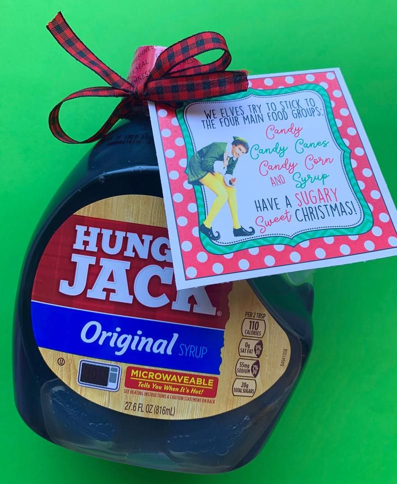 INSTANT DOWNLOAD Christmas Neighbor Gifts Syrup TAGS Elf
