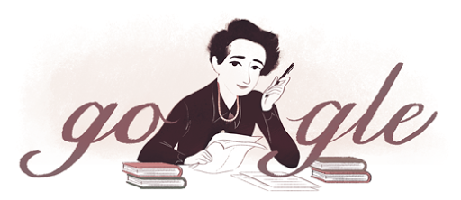 HANNAH ARENDT GETS A GOOGLE DOODLE OCTOBER 14, 2014 Today